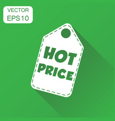 Hot price hang tag icon business concept hot vector