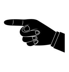Index finger pointing hand gesture icon image vector