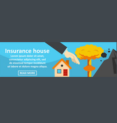 insurance house banner horizontal concept vector image