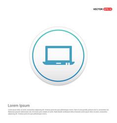 Laptop icon hexa white background icon template vector