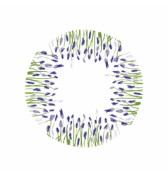 Lavender wreath Watercolor hand drawn floral vector image