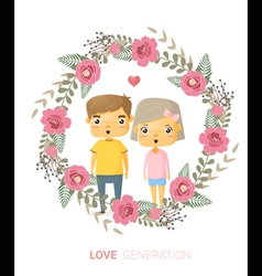 Love generation greeting card 2 vector image