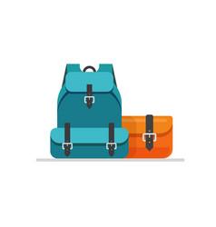 Luggage isolated flat cartoon vector