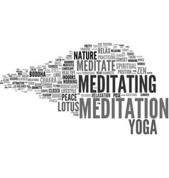 Meditate word cloud concept vector
