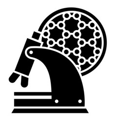 microscope work icon simple style vector image