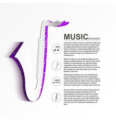 Music light template vector