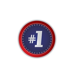 Number one icon button vector