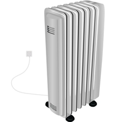 oil electric heater vector image