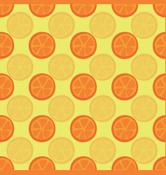 orange halves seamless pattern citrus vector image