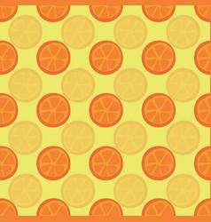 orange halves seamless pattern citrus vector image
