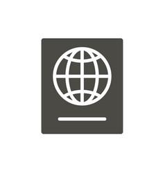passport icon identity document symbol iso vector image