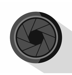 Photographic objective icon flat style vector