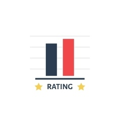 Rating Icon in flat style Vote concept vector
