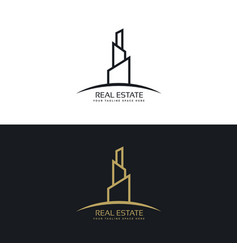 Real estate building business logo design concept vector