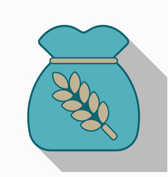 Realistic of a bag with wheat barley and sprigs vector
