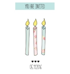 Romantic Invitation announcement or congratulation vector image