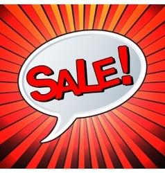 Sale text bubble vector image