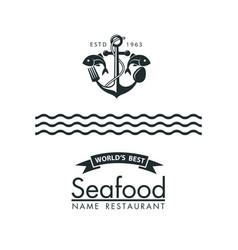 Seafood menu design vector