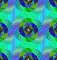 Seamless abstract psychedelic spiral background vector