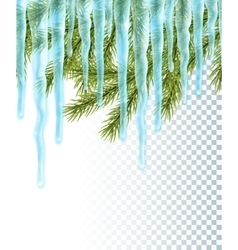 Seamless border with icicles vector