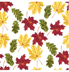 Seamless pattern with autumn leaves in vector