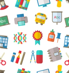 Seamless Pattern with School Icon vector image