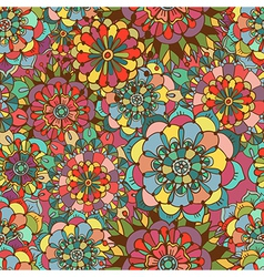 Seamless texture with bright colorful flowers vector image