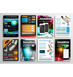Set of Flyer Design Infographic Templates Brochure vector