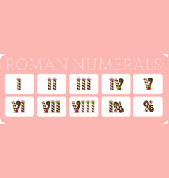 set of roman numerals 2 vector image
