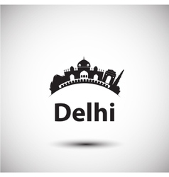 silhouette of Delhi India vector image