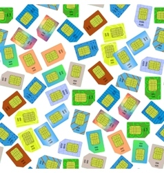SIM Cards Seamless Pattern vector image