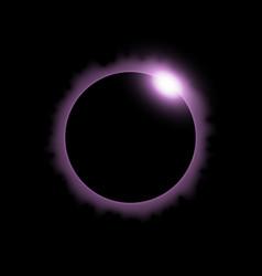 Solar eclipse purple color vector