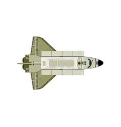 Space shuttle aircraft retro vector