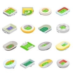 Stadium isometric 3d icons vector image