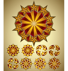 Stars symbols set vector image