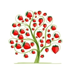 Strawberry tree for your design vector image
