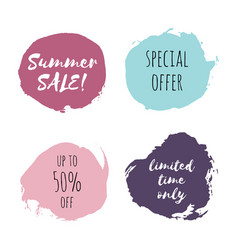 Summer sale special offer limited time only vector