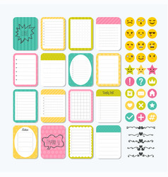 template for notebooks cute design elements vector image vector image