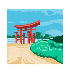 Torii Japanese Gate WPA vector