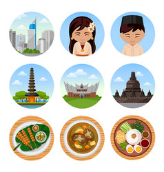 Travel to indonesia vector