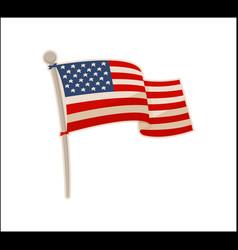 usa national flag icon colorful banner vector image