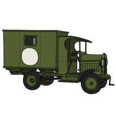 Vintage military ambulance vector