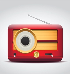 vintage red radio vector image