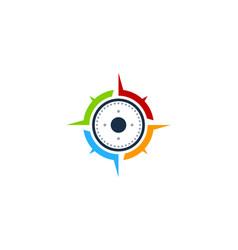 vision compass logo icon design vector image