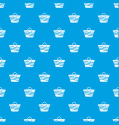 women beach bag pattern seamless blue vector image
