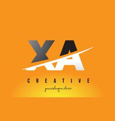 Xa x a letter modern logo design with yellow vector