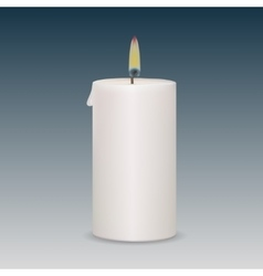 Candle flame fire light isolated on background vector