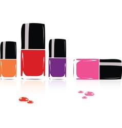 collection of nail polish vector image vector image