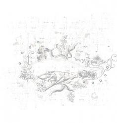 flowers ii vector image vector image