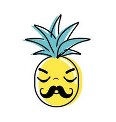 Kawaii cute sleeping pineapple vegetable vector